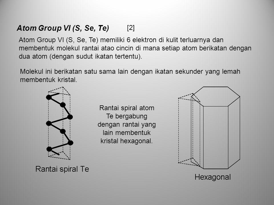 Atom Group VI (S, Se, Te) [2]